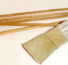 """La Canne"", sticks used for training."