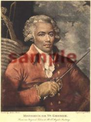 Monsieur De Saint George Engraving by W. Ward, from the portrait painted by Mather Brown