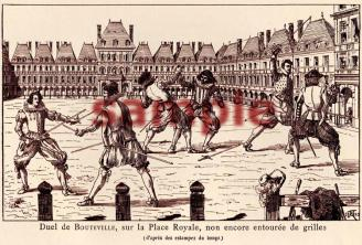 Duel de Bouteville, A 1892 print