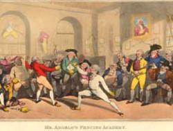 Angelo's Haymarket fencing academy, Painted by T. Rowlandson