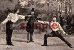 Duel with Epees 1899, Drawn by Percy Macquoid. RI